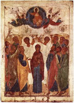 Ascension icon Rublev